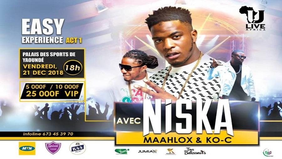 Niska en concert à Yaoundé le 21 décembre 2018