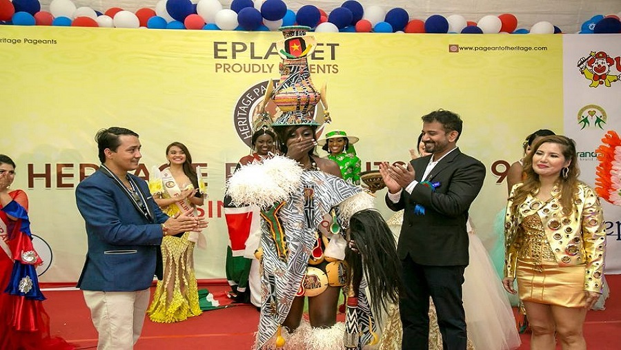 Jessica Djoumbi médaillée d'or à Miss Héritage international 2019