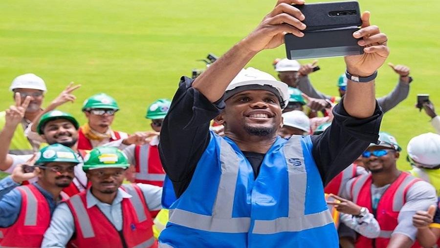 Mondial 2022 : Samuel Eto'o visite en avant-première l'Al-Wakrah Stadium