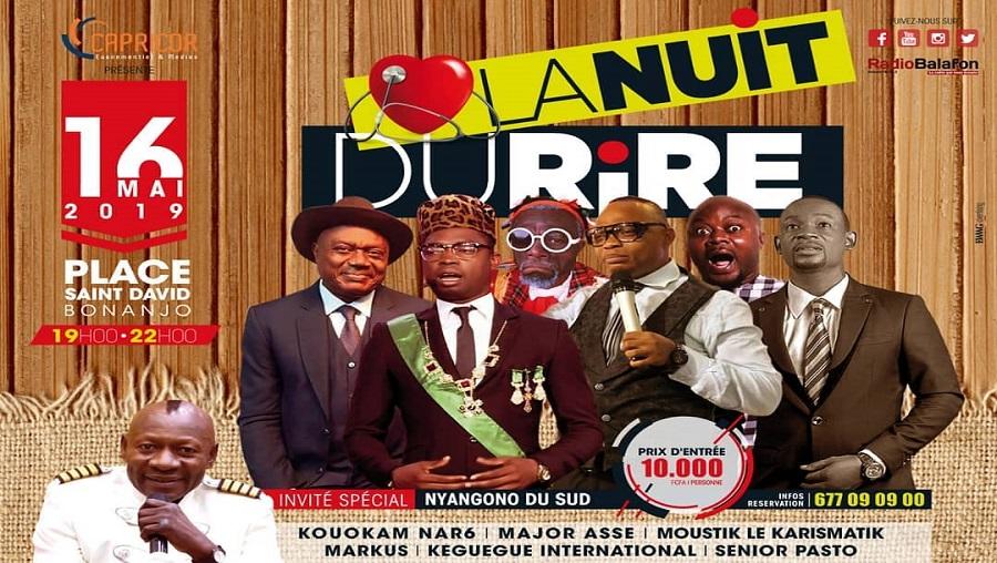 La nuit du rire revient ce 16 mai à Douala