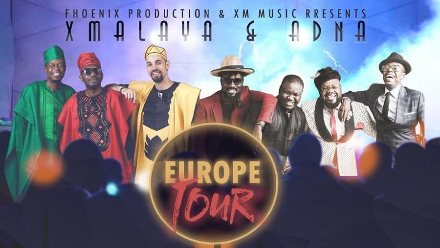X- Maleya et l'Alliance Divine pour un Nouvel Art (ADNA) en concert en Europe