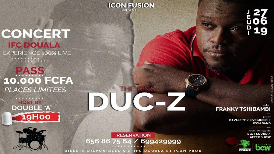 Duc-Z en concert à Douala le 27 juin prochain