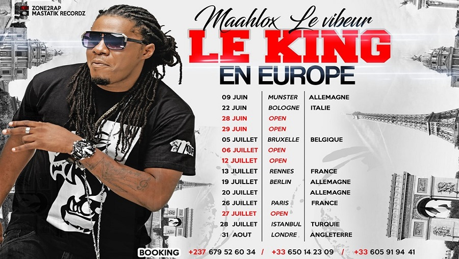 Concerts : Maahlox le vibeur en tournée européenne