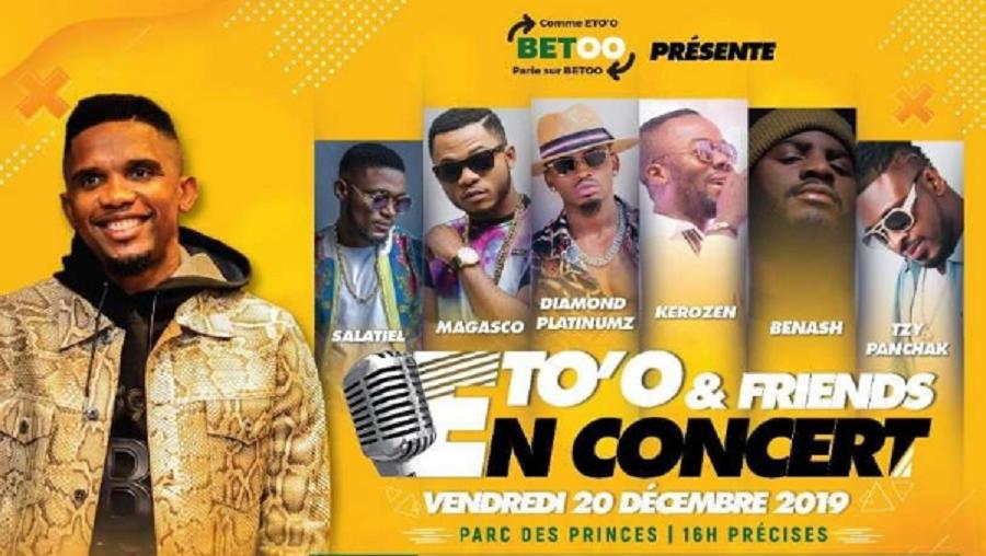 Samuel Eto'o organise son premier concert ce 20 décembre à Douala
