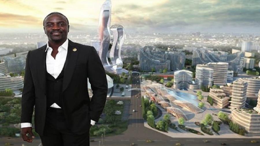 La maquette de la ville «Akon City»