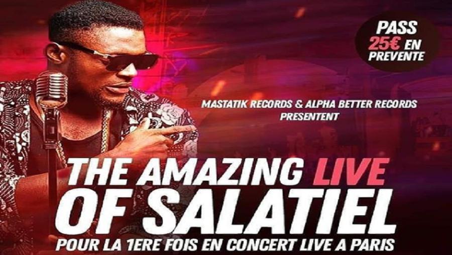 Salatiel pour la première fois en concert live à Paris ce 14 mars