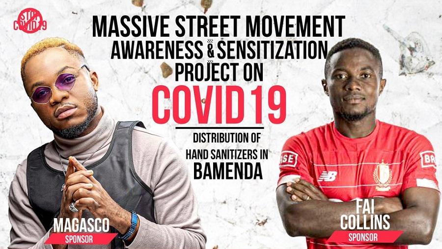 Coronavirus: Magasco et Fai Collins ont fait des dons dans la ville de Bamenda