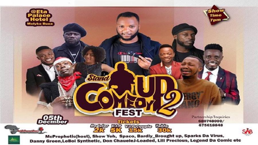 Le stand-up comedy fest s'annonce à Buea ce 05 décembre