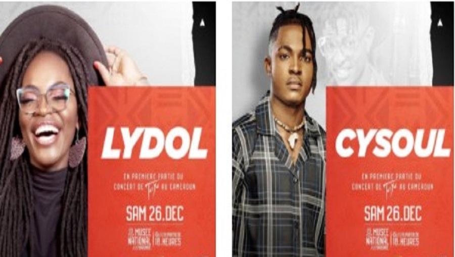 Lydol et Cysoul en première partie du concert de Tayc
