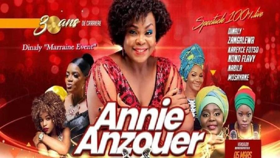 Annie Anzouer célèbre ses 30 ans de carrière ce 05 mars 2021